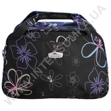 Заказать сумка дорожная малая Wallaby 07012 черная с рисунком в Intersumka.ua
