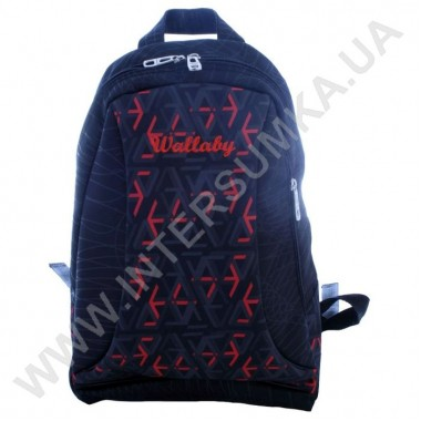 Заказать рюкзак молодежный Wallaby 139black_red