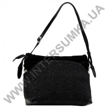 Заказать Сумка женская из натуральной замшевой кожи Diamond 1454 черная