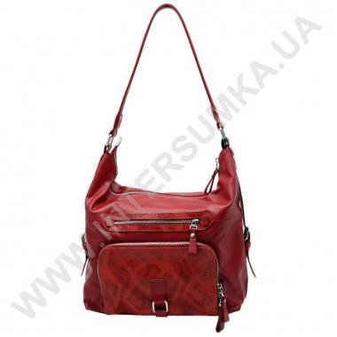 Заказать Сумка женская из натуральной кожи Diamond 1481 красная в Intersumka.ua