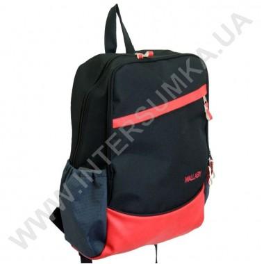 Заказать рюкзак на 2 отдела Wallaby 157 черно-коралловый