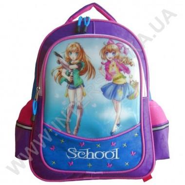 Заказать рюкзак детский SCHOOL с ортопедической спинкой 158anime на 2 отдела
