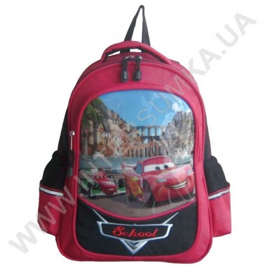 Заказать рюкзак детский SCHOOL с ортопедической спинкой 158cars на 2 отдела