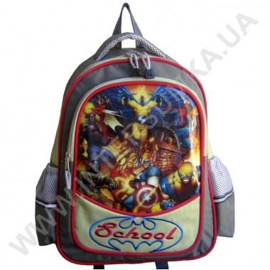 Заказать рюкзак детский SCHOOL с ортопедической спинкой 158heroes на 2 отдела в Intersumka.ua