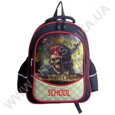 Заказать рюкзак детский SCHOOL с ортопедической спинкой 158pirates на 2 отдела