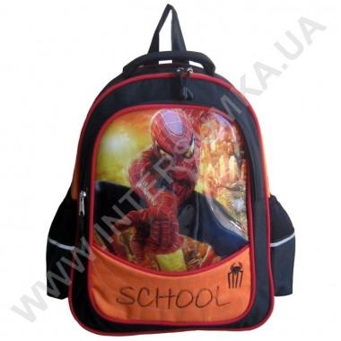 Заказать рюкзак детский SCHOOL с ортопедической спинкой 158spider_black на 2 отдела в Intersumka.ua