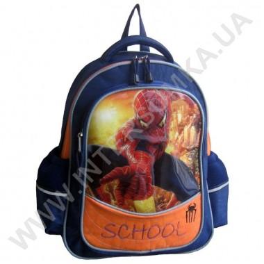 Заказать рюкзак детский SCHOOL с ортопедической спинкой 158spider_blue на 2 отдела