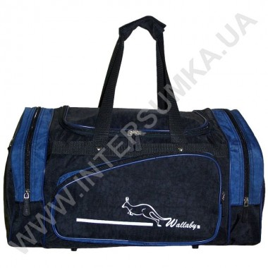 Заказать сумка спортивная Wallaby 271 чёрно-синяя в форме хлебницы в Intersumka.ua
