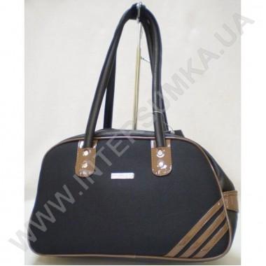Заказать сумка женская Wallaby 403 черная с коричневой отделкой
