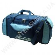 сумка спортивная с расширением Wallaby 475 синяя с голубыми вставками