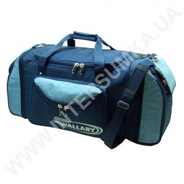 Заказать сумка спортивная с расширением Wallaby 475 синяя с голубыми вставками в Intersumka.ua