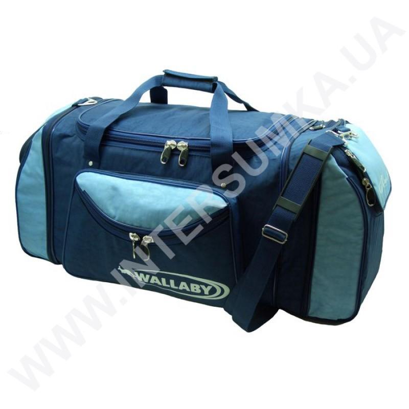Заказать сумка спортивная с расширением Wallaby 475 синяя с голубыми  вставками 3a58cd5971112
