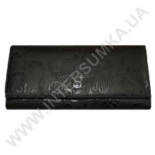 кошелёк женский большой, монетница наружная, замок HASSION 72031-3-18203black