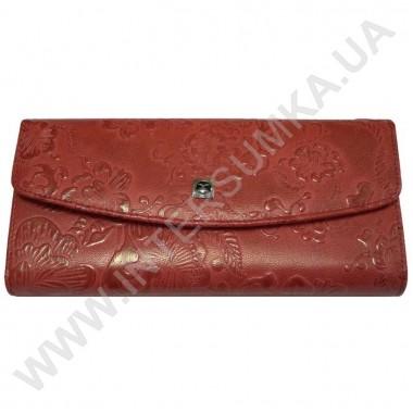 Заказать кошелёк женский большой, монетница внутренняя, замок Hassion 72504-4-18202red