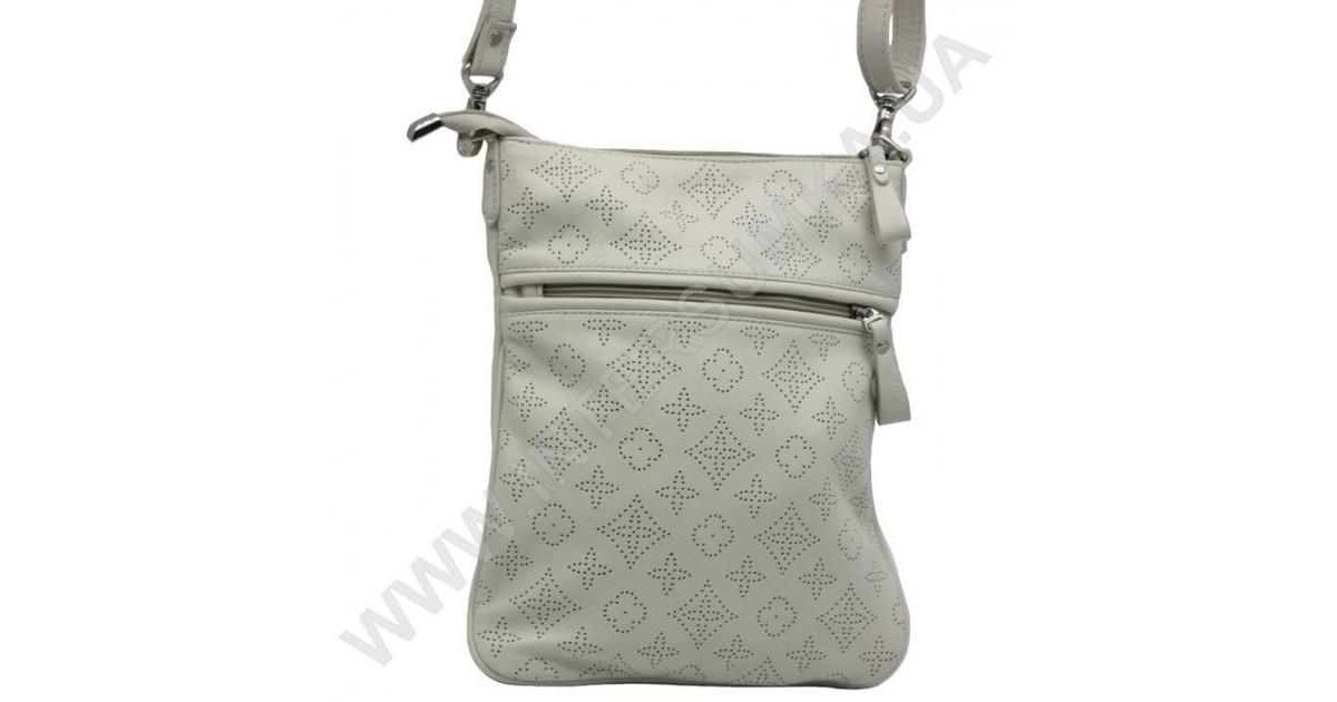 Купити сумку-планшет жіночу з натуральної шкіри українського виробника  Diamond 873 бежеву. Сумка на 1 відділення. Укомплектована плечовим ременем. 7a96c6706371e
