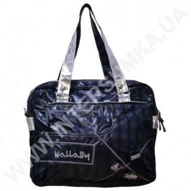 Заказать сумка женская молодежная прямоугольная клетка-серебро Wallaby DN470
