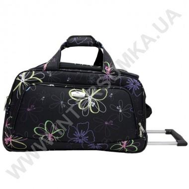 Заказать сумка дорожная на колесах Wallaby M09096R (объем 47л) черная с рисунком в Intersumka.ua