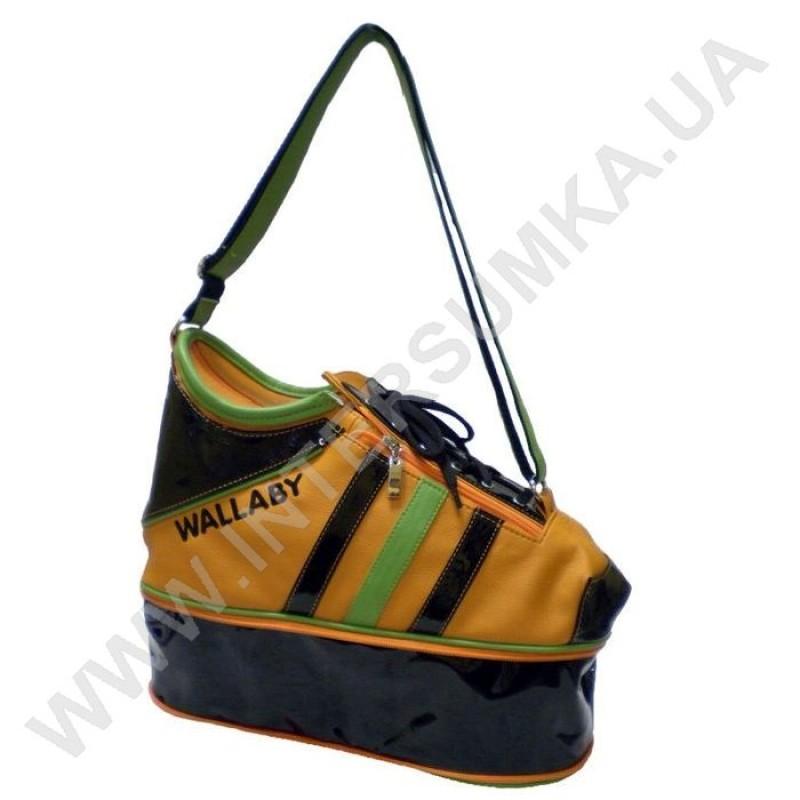 d6f972241388 сумка молодёжная Wallaby 607 в форме ботинка (кед) желтая