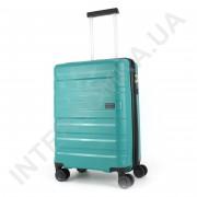 Полипропиленовый чемодан CONWOOD малый PPT002/20 с расширением зелёный (44/52 литра)