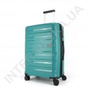 Полипропиленовый чемодан CONWOOD средний PPT002/24 с расширением зелёный (70/84 литра)