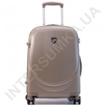 Поликарбонатный чемодан Airtex малый 902/20 цвет шампанское (золотистый) (43 литра)