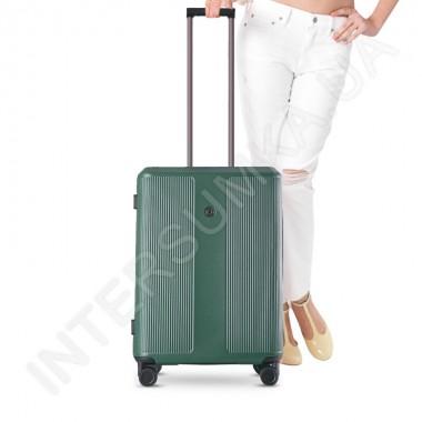 Заказать Поликарбонатный чемодан CONWOOD малый PC129/20 зеленый (37,5 литров) в Intersumka.ua