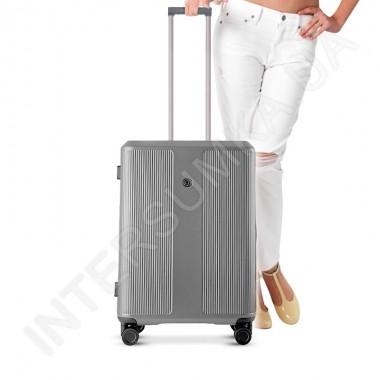 Заказать Поликарбонатный чемодан CONWOOD малый PC129/20 серебро (37,5 литров)