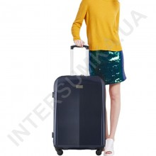 Поликарбонатный чемодан большой CONWOOD PC051/28 синий (105 литров)