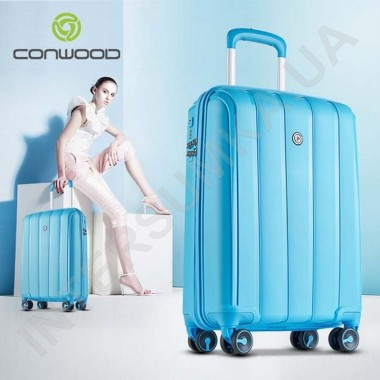 Заказать Полипропиленовый чемодан средний CONWOOD PPT001/24 голубой (75 литров)
