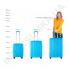 Полипропиленовый чемодан CONWOOD малый PPT001/20 голубой (43 литра) фото 1