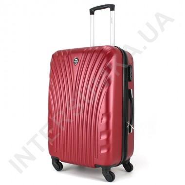 Заказать Чемодан средний Wallaby 024/23 бордовый (72 литра) на 4 колесах из АБС пластика в Intersumka.ua