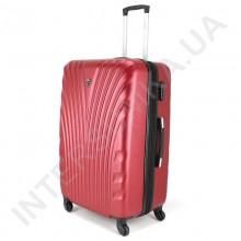 Большой чемодан  Wallaby 024/27 бордовый (92 литра) на 4 колесах из АБС пластика