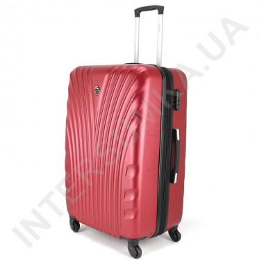 Заказать Большой чемодан  Wallaby 024/27 бордовый (92 литра) на 4 колесах из АБС пластика в Intersumka.ua