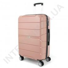Полипропиленовый чемодан Wallaby средний 126-10/24 кофейный (78 литров)