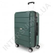 Полипропиленовый чемодан Wallaby средний 126-10/24 зелёный (78 литров)