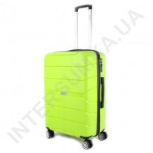 Полипропиленовый чемодан Wallaby средний 126-10/24 лаймовый (78 литров)