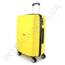 Полипропиленовый чемодан Wallaby средний 126-10/24 желтый (78 литров)