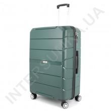 Полипропиленовый чемодан Wallaby 126-10/28 зеленый (109 литров)