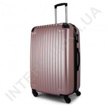Чемодан большой Wallaby 6265/26 розово-золотистый (98 литров) на 4 колесах из АБС пластика