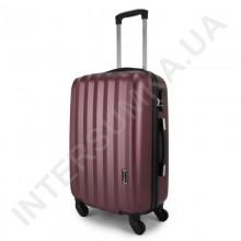Дорожный чемодан Wallaby 6288/21 бордовый (43 литра) на 4 колесах из АБС пластика