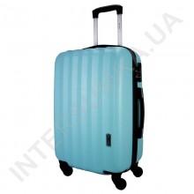Дорожный чемодан Wallaby 6288/21 голубой (43 литра) на 4 колесах из АБС пластика