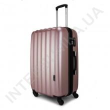 Дорожный чемодан Wallaby 6288/21 розово-золотистый (43 литра) на 4 колесах из АБС пластика