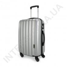 Дорожный чемодан Wallaby 6288/21 серебро (43 литра) на 4 колесах из АБС пластика