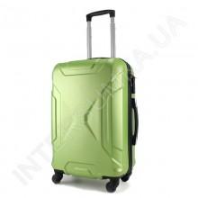 Дорожній чемодан Wallaby 1721/21 лаймовий (44 літри) на 4 колесах з АБС пластику