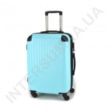 Валіза середня Wallaby 6265/22 блакитна (62 літри) на 4 колесах з АБС пластику