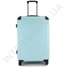 Чемодан большой Wallaby 6265/26 голубой (98 литров) на 4 колесах из АБС пластика