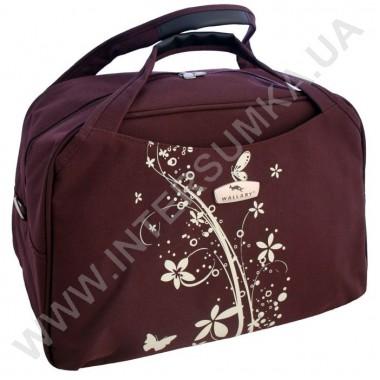 Заказать сумка дорожная малая Wallaby M07012 бордовая с белой накаткой