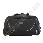 сумка спортивная на колёсах Wallaby 10428 (объем 57л) черная с черными вставками