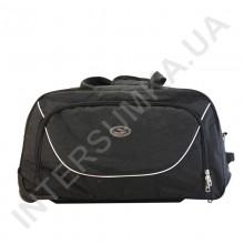 сумка спортивна на колесах Wallaby 10428 (обсяг 57л) чорна з чорними вставками