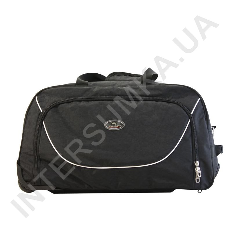 Заказать сумка спортивна на колесах Wallaby 10428 (обсяг 57л) чорна з  чорними вставками de7296e287bc8